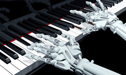 An AI playing the piano